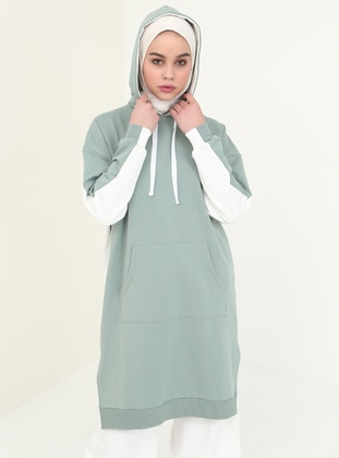 Green - Green Almond - Cotton - Tunic