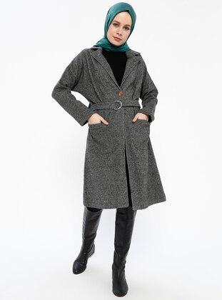 Black - Unlined - Shawl Collar - Coat