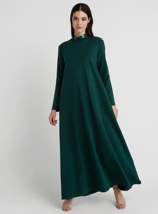4a2d238afc29b الأخضر الزمردي فستان Modelleri ve Fiyatları - Modanisa.com