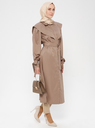 Minc - Unlined - Point Collar - Crepe - Trench Coat