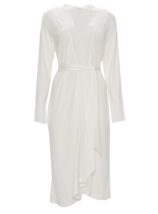 White - Ecru - Viscose - Morning Robe - Eros
