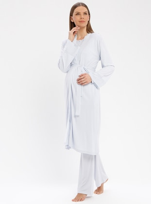 Blue - Viscose - Morning Robe