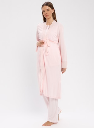 Pink - Viscose - Morning Robe