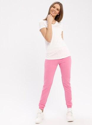 Pink - Tracksuit Bottom