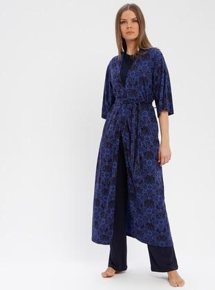 Navy Blue - Morning Robe