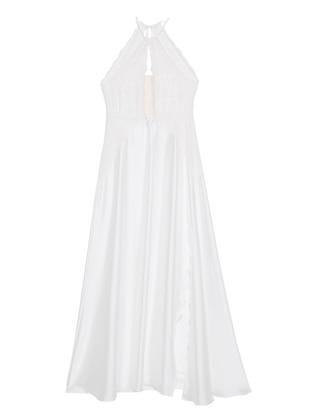 White - Crew neck - Nightdress