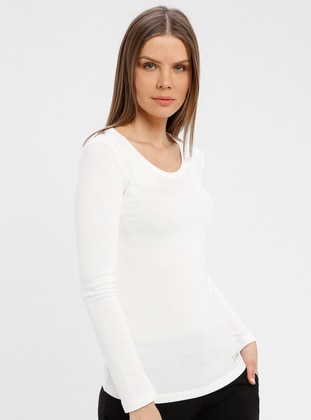 White - Ecru - Undershirt