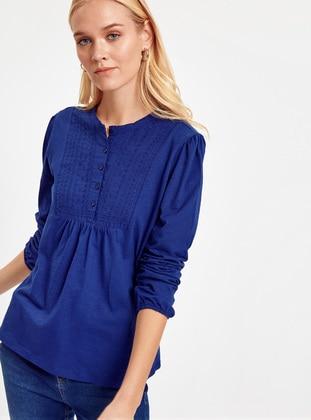 Navy Blue - T-Shirt - LC WAIKIKI