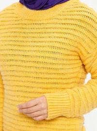 Yellow - Crew neck - Acrylic -  - Jumper