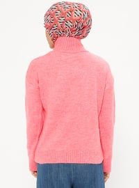 Pink - Polo neck - Acrylic -  - Jumper
