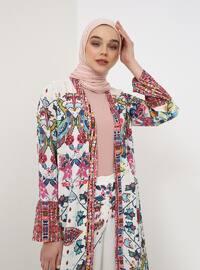 Ecru - Multi - Unlined - Topcoat