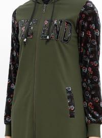 Khaki - Unlined - Cotton - Abaya