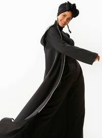 Black - Khaki - Unlined - Viscose - Abaya