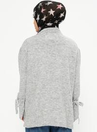 Gray - Crew neck - Acrylic -  - Jumper