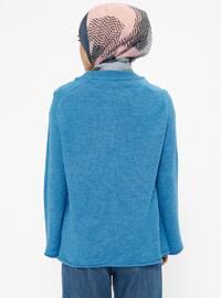 Turquoise - Crew neck - Acrylic -  - Jumper