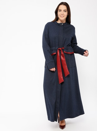 Navy Blue - Polo neck - Dresses