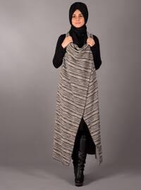 Black - Stripe - Unlined - Vest