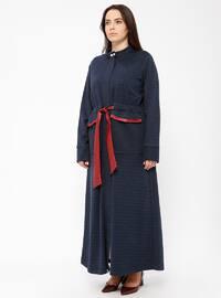Navy Blue - Polo neck - Dresses