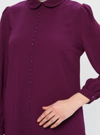 Purple - Round Collar - Tunic