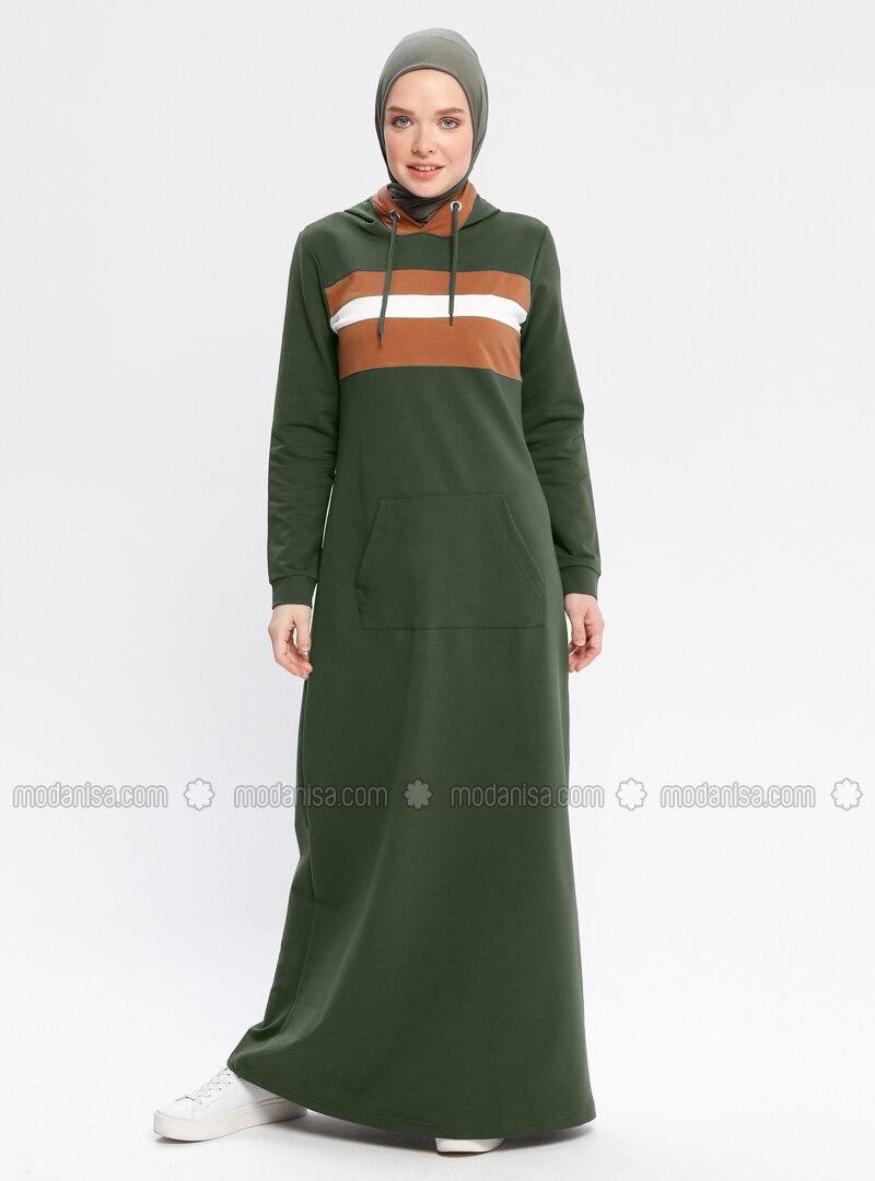Khaki - Unlined - Dresses