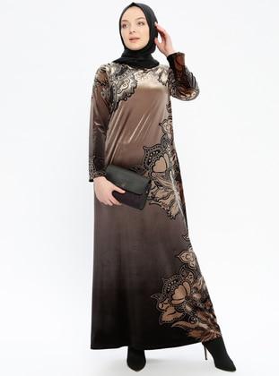 7fb27e5901f81 أسود - ملون - قبة مدورة - نسيج غير مبطن - فستان