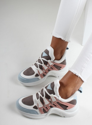 White - Powder - Sport - Sports Shoes