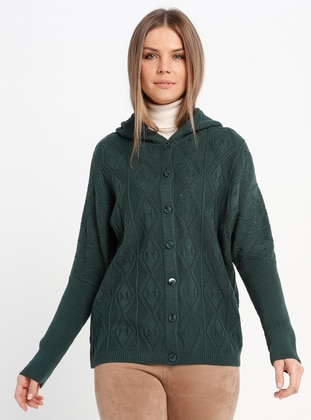 Green - Unlined - Acrylic -  - Jacket