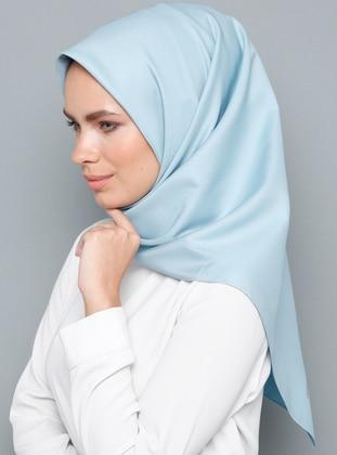 Blue - Plain - Rayon - Scarf