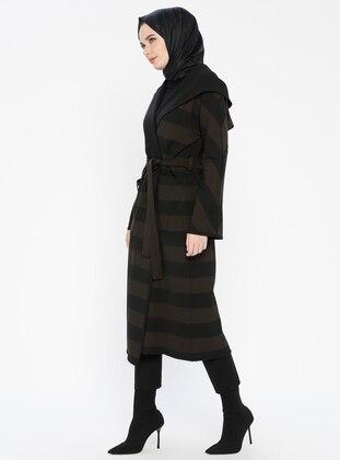 Brown - Stripe - Coat