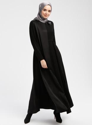 d528dc2af8476 Boncuk Payet Detaylı Elbise - Siyah