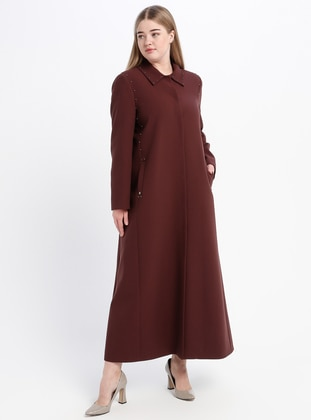 Maroon - Fully Lined - Point Collar - Topcoat
