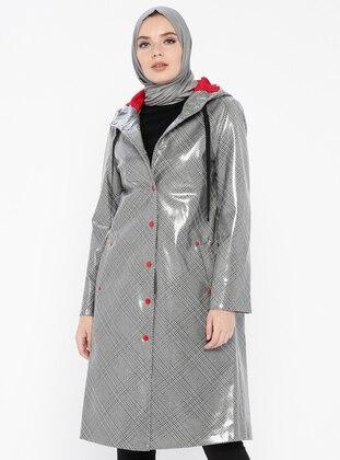 Gray - Plaid - Fully Lined - Topcoat