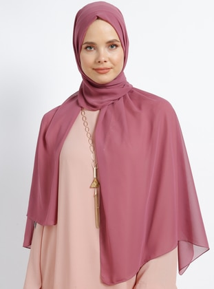 Dusty Rose - Plain - Chiffon - Shawl