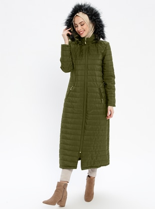 Green - Fully Lined - Polo neck - Puffer Jackets
