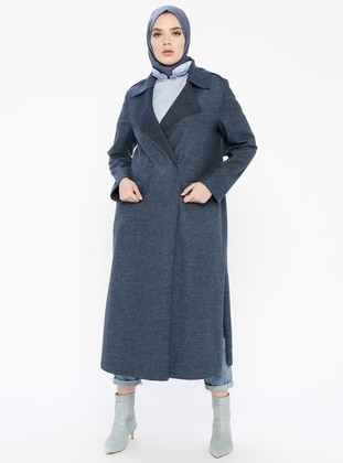 Petrol - Shawl Collar - Coat
