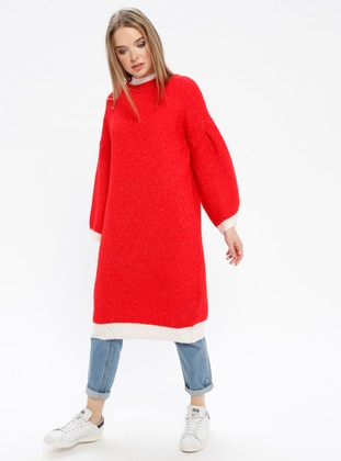 Red - Crew neck -  - Knitwear - REPP