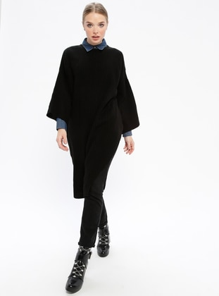 Black - Crew neck -  - Knitwear