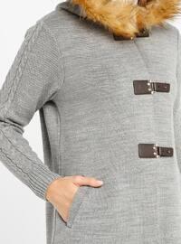 Gray - Unlined - Acrylic -  - Jacket