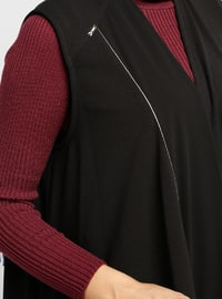 Black - Maroon - Vest