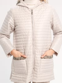 White - Ecru - Fully Lined - Puffer Jackets