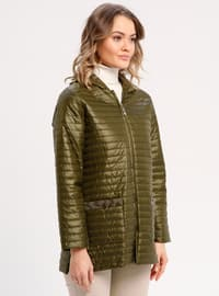 Green - Fully Lined - Puffer Jackets