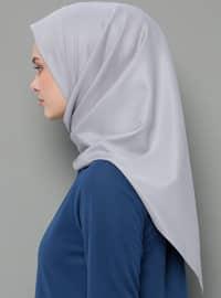 Gray - Plain - Rayon - Scarf