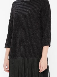 Black - Plum - Crew neck - Blouses