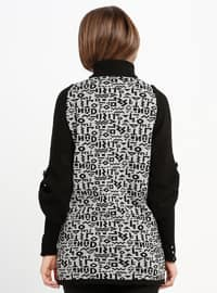 Black - Multi - Polo neck - Acrylic -  - Cardigan