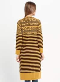 Mustard - Multi - Crew neck - Acrylic -  - Tunic