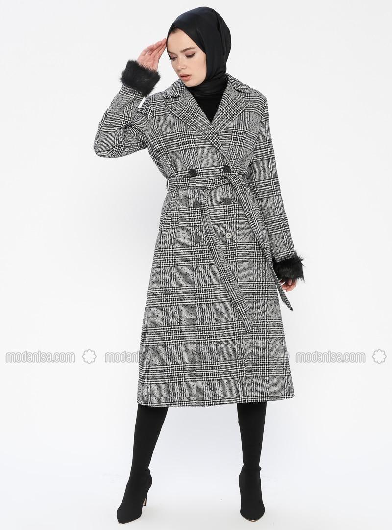 Black - Multi - Fully Lined - Shawl Collar - Topcoat