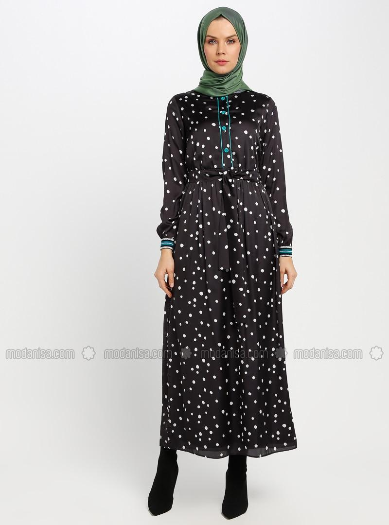 b7bd5723b7bb0 Puantiyeli Elbise - Siyah