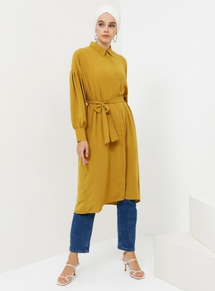 Mustard - Point Collar - Cotton - Tunic
