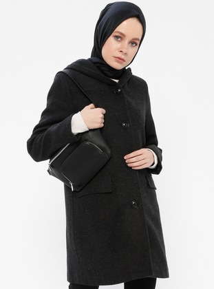 Anthracite - Fully Lined - Shawl Collar - Coat - Gzd