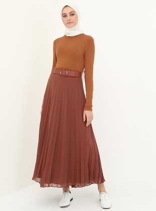 Tan - Fully Lined - Skirt
